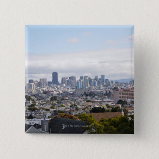 View of San Francisco skyline 15 Cm Square Badge