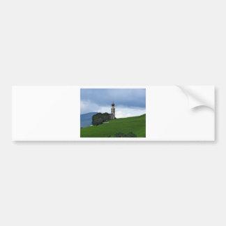 View of San Valentino church Bumper Sticker