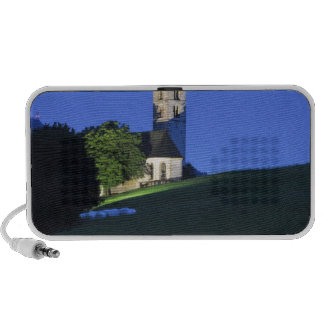 View of San Valentino church by night Portable Speaker