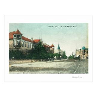 View of Santa Cruz AvenueLos Gatos, CA Postcard