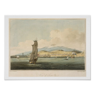View of Santa Cruz, plate 3 from 'A Voyage to Coch Print