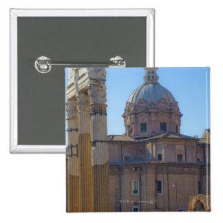 View of Santi Luca e Martina 15 Cm Square Badge