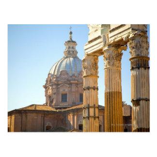 View of Santi Luca e Martina in the Roman Forum Postcard
