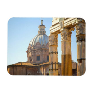 View of Santi Luca e Martina in the Roman Forum Rectangular Photo Magnet