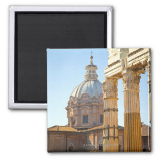View of Santi Luca e Martina in the Roman Forum Square Magnet