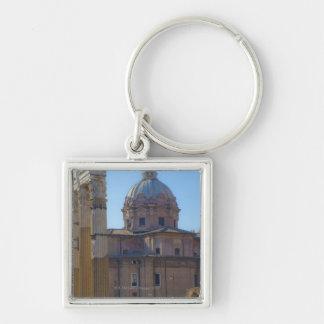 View of Santi Luca e Martina Silver-Colored Square Key Ring