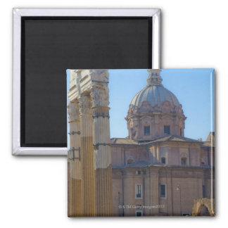 View of Santi Luca e Martina Square Magnet