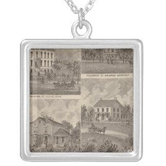 View of Sauk Rapids, Minnesota Silver Plated Necklace
