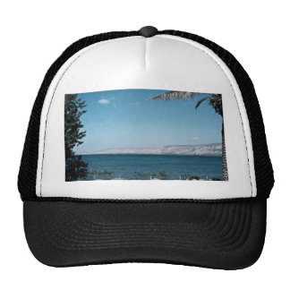 View of Sea of Galilee from south shore, Israel Trucker Hat