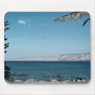 View of Sea of Galilee from south shore, Israel Mousepads