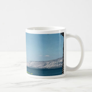 View of Sea of Galilee from south shore, Israel Coffee Mug