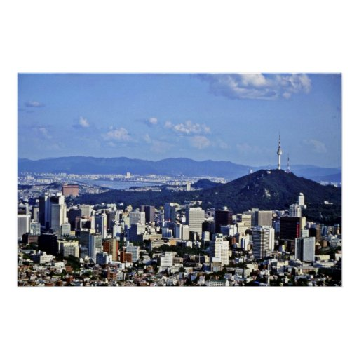 View Of Seoul From Ansan Poster