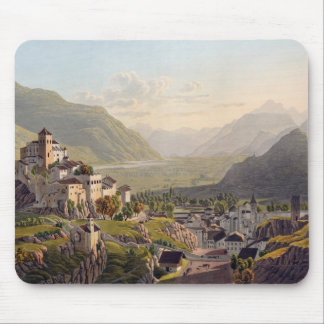 View of Sion, illustration from 'Voyage Pittoresqu Mouse Mat
