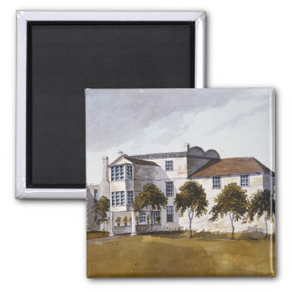 View of Sir Noel de Caron's House, 1809 Square Magnet