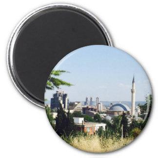 View of Skopje 6 Cm Round Magnet