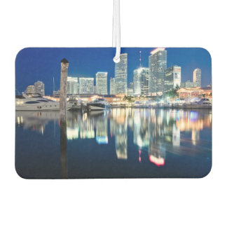 View of skyline with reflection in water, Miami Car Air Freshener