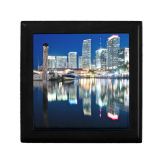 View of skyline with reflection in water, Miami Gift Box