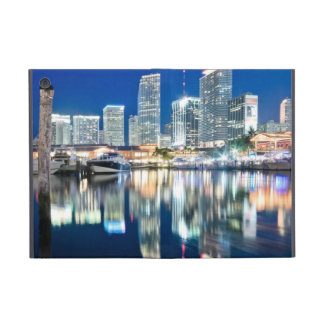 View of skyline with reflection in water, Miami iPad Mini Case