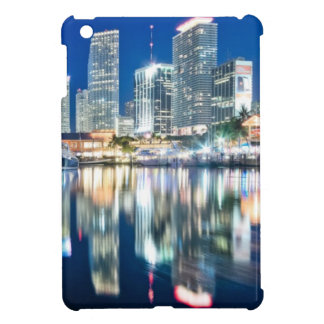View of skyline with reflection in water, Miami iPad Mini Cover