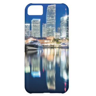 View of skyline with reflection in water, Miami iPhone 5C Case