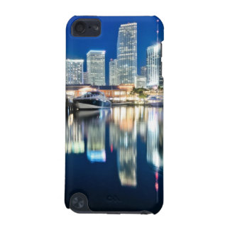 View of skyline with reflection in water, Miami iPod Touch 5G Cases