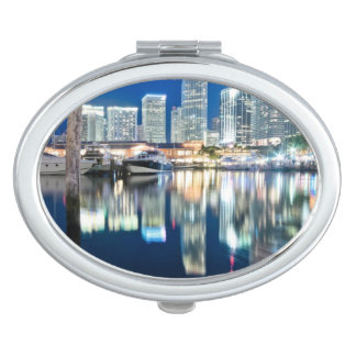 View of skyline with reflection in water, Miami Vanity Mirrors