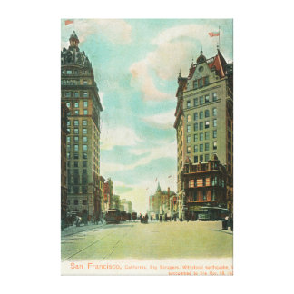 View of Skyscrapers that Survived 1906 Canvas Print