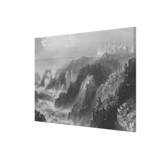 View of Slaines Castle, near Peterhead Canvas Print