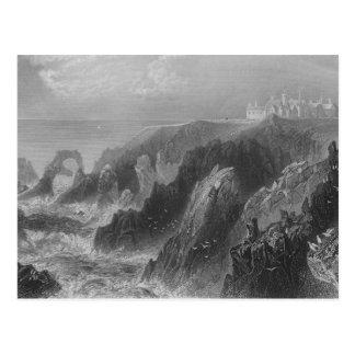 View of Slaines Castle, near Peterhead Postcard