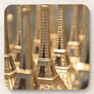 view of small eiffel towers for sale to tourists beverage coasters