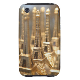 view of small eiffel towers for sale to tourists iPhone 3 tough case