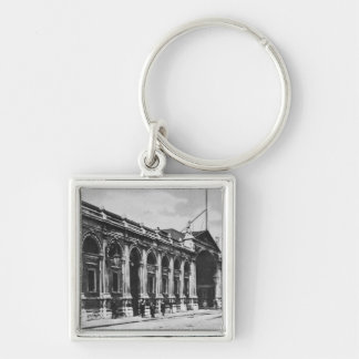 View of Smithfield Meat Market, c.1905 Silver-Colored Square Key Ring