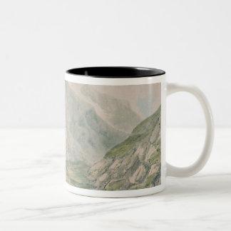 View of Snowdon Two-Tone Coffee Mug