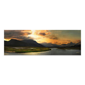 View of Snowdonia from Portmadog Photo Print