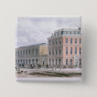View of Soho Square and Carlisle House 15 Cm Square Badge