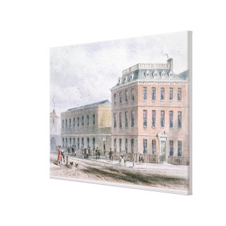 View of Soho Square and Carlisle House Canvas Print