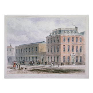 View of Soho Square and Carlisle House Poster