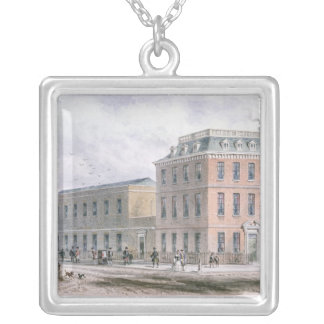 View of Soho Square and Carlisle House Silver Plated Necklace