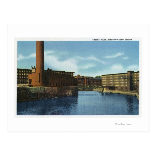 View of Some Textile Mills Postcard