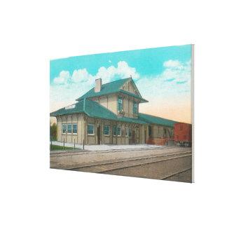 View of Southern Pacific DepotSanta Rosa, CA Canvas Print