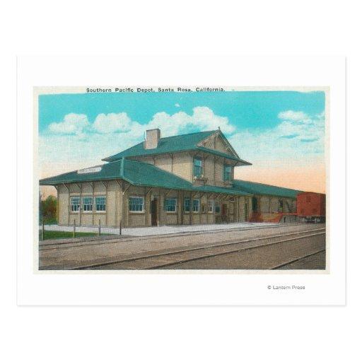 View of Southern Pacific DepotSanta Rosa, CA Post Card