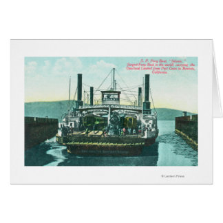 View of SP Ferry Boat Solano in Dock 2 Card