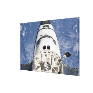 View of space shuttle Endeavour's crew cabin Canvas Print