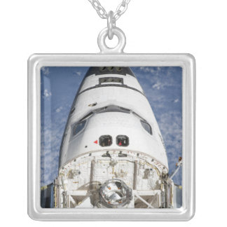 View of space shuttle Endeavour's crew cabin Silver Plated Necklace