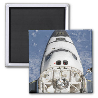 View of space shuttle Endeavour's crew cabin Square Magnet