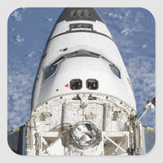 View of space shuttle Endeavour's crew cabin Square Stickers