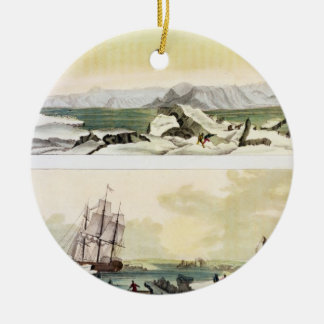 View of Spitsbergen with 'The Dorothea' (colour en Christmas Ornament