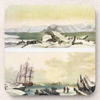 View of Spitsbergen with 'The Dorothea' (colour en Drink Coaster