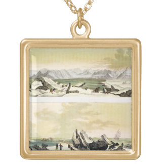 View of Spitsbergen with 'The Dorothea' (colour en Gold Plated Necklace