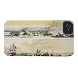View of Spitsbergen with 'The Dorothea' (colour en iPhone 4 Cover